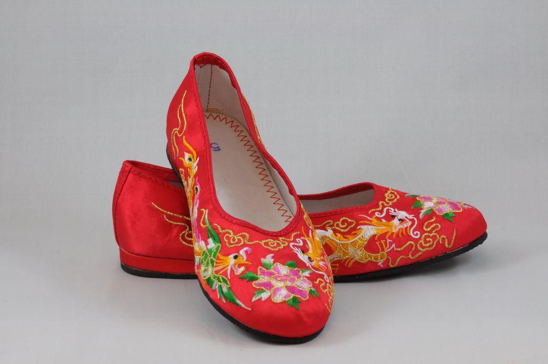 龍鳳綉花鞋 1