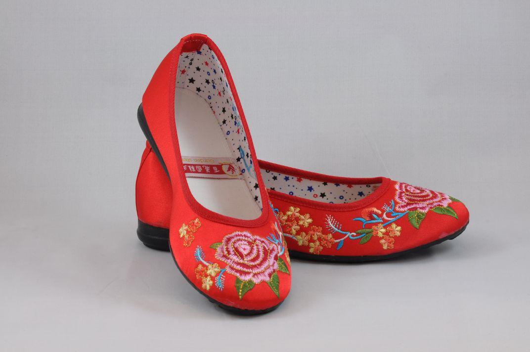 龍鳳綉花鞋 7