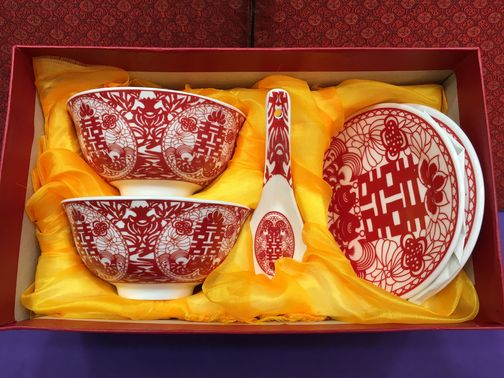 中式婚嫁碗筷套裝 2